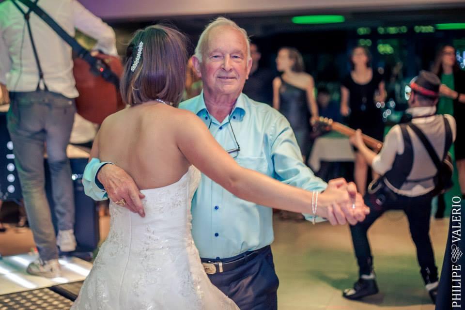 grootvader en bruid