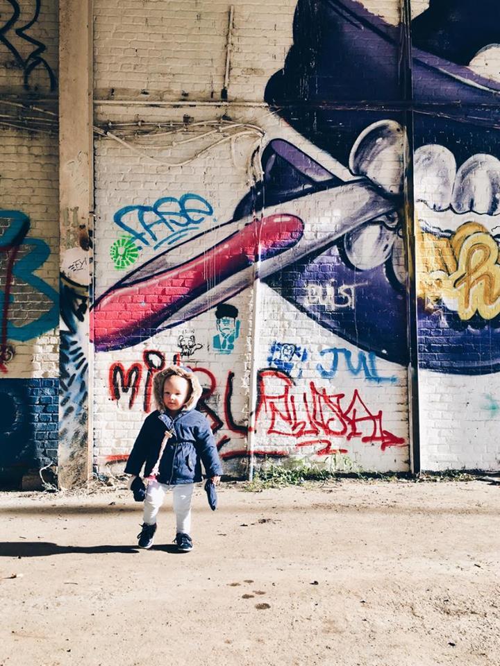 Doel gezinsuitstap graffiti