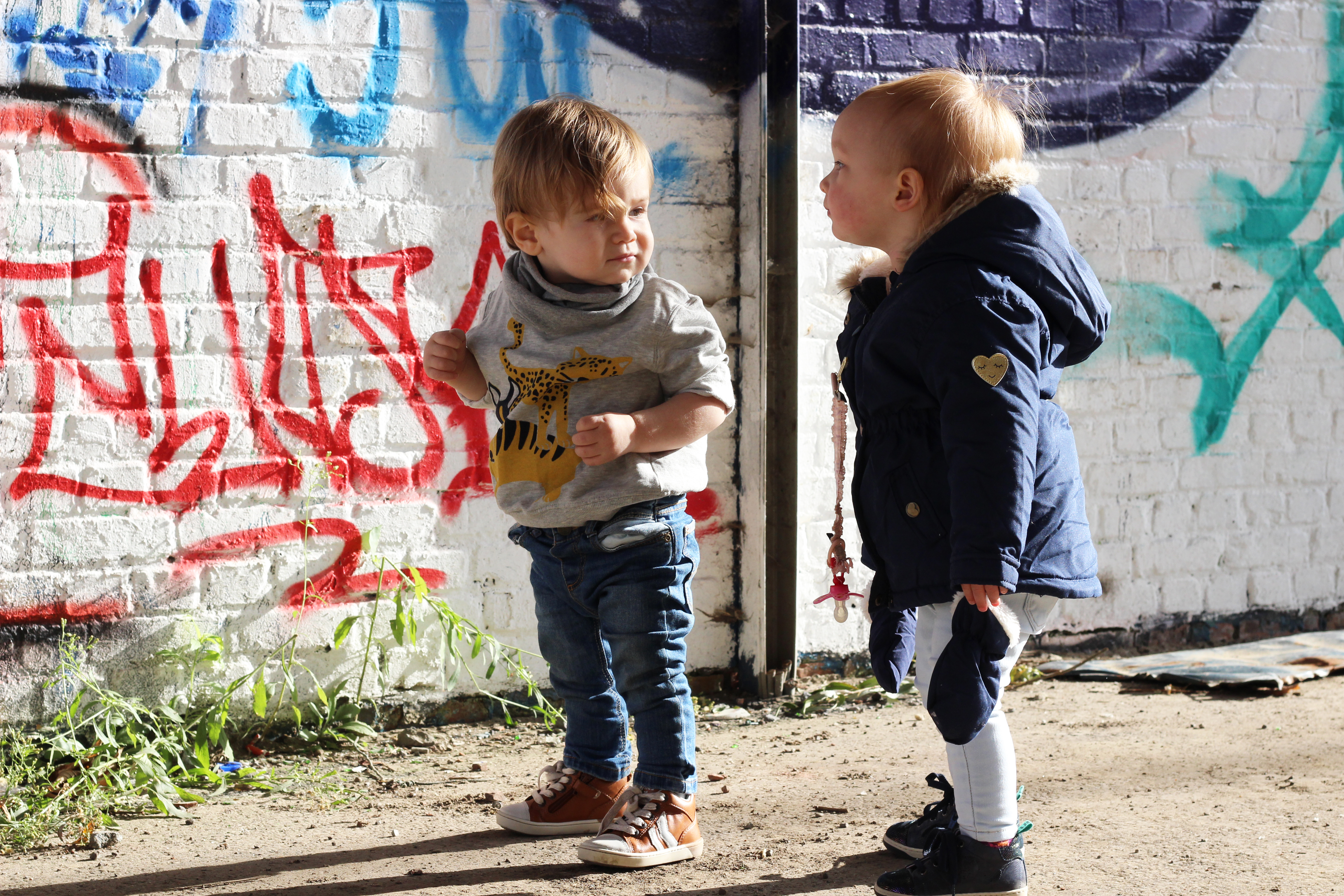 Doel gezinsuitstap peuter graffiti