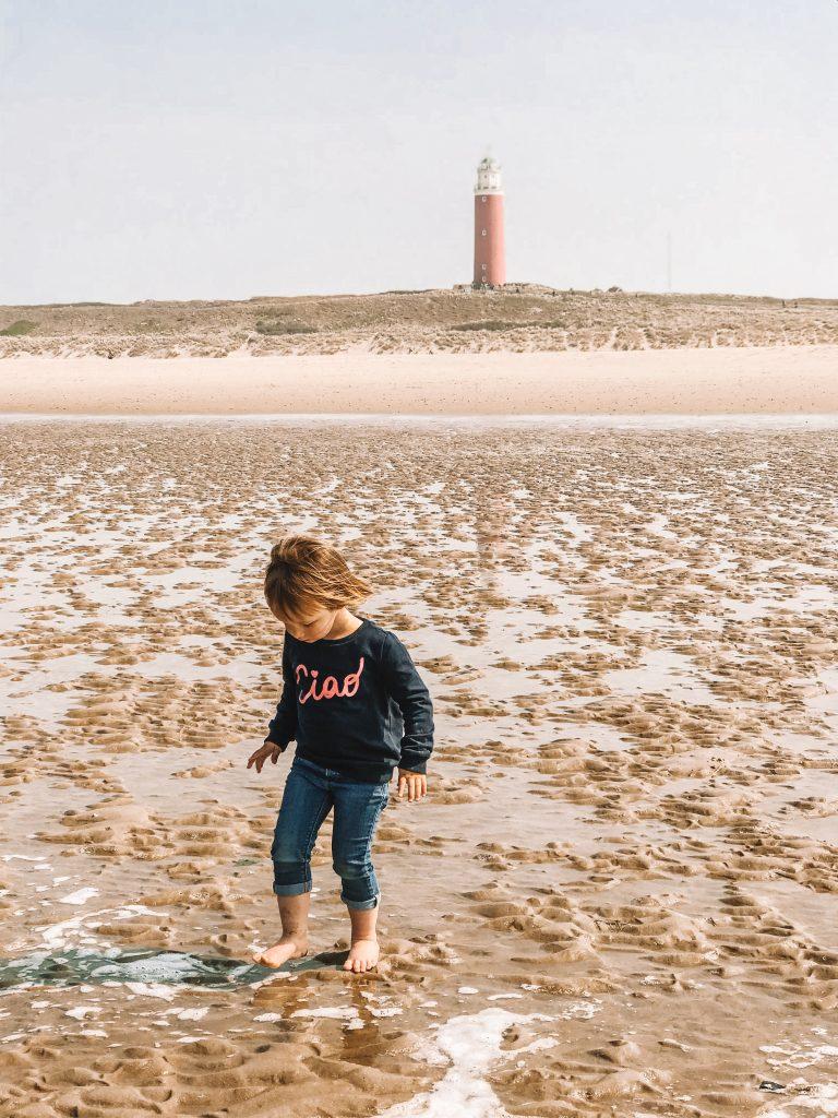 Texel strand vuurtoren